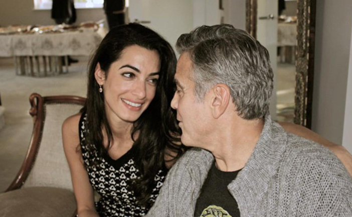 GEORGE E AMAL IN DOLCE ATTESA