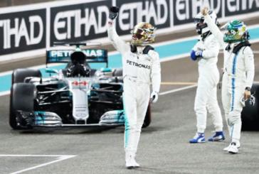 F1 ABU DHABI HAMILTON IN POLE