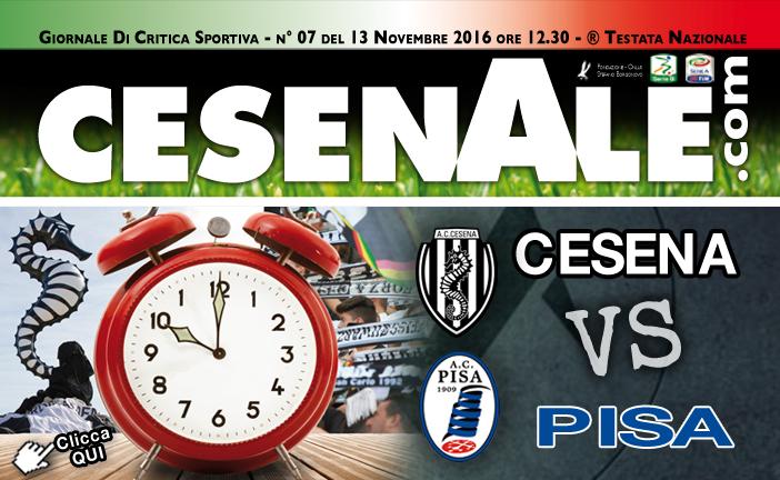CESENA – PISA 13-11-2016 ORE 12.30