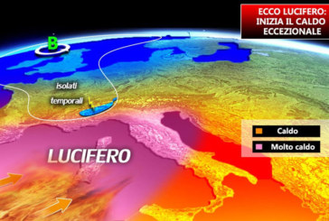 METEO – LUCIFERO SULL'ITALIA