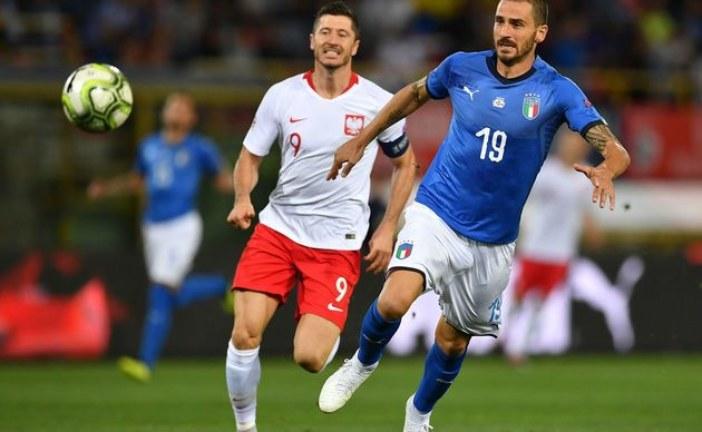 NATION LEAGUE ITALIA-POLONIA 1-1