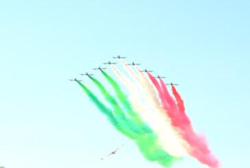LE FRECCE TRICOLORI SUL GIRO D'ITALIA