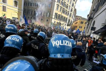 PROTESTA SCONTRI A MONTECITORIO