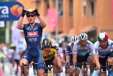 TIM MERLIER VINCE LA 2 DEL GIRO D'ITALIA
